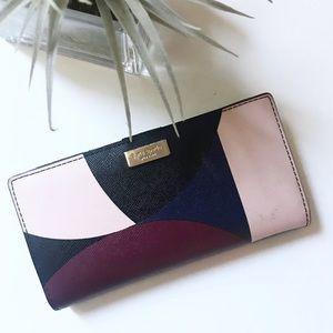 kate spade / wallet bag colorblock snap closure